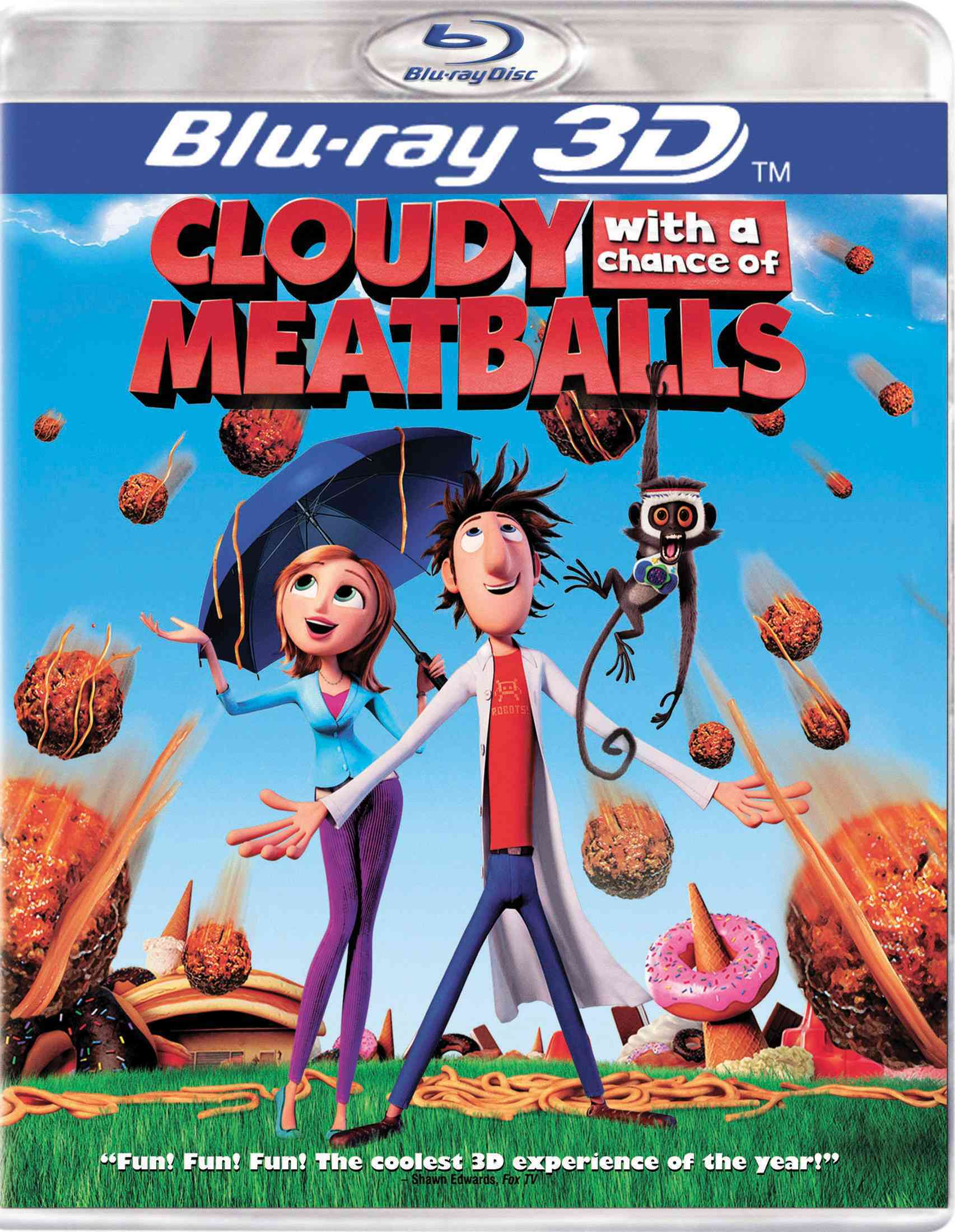 CLOUDY WITH A CHANCE OF MEATBALLS 3D BY HADER,BILL (Blu-Ray)